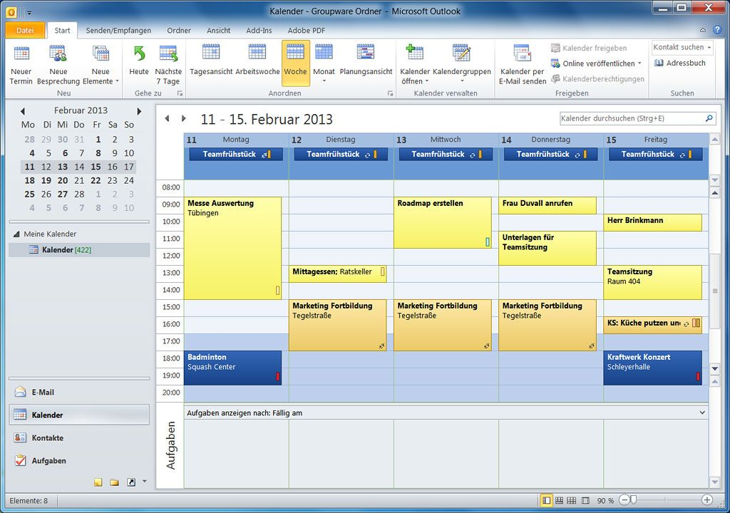 Outlook Groupware Lösung